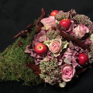 Bloemwerk van een workshop bij Bloemsierkunst Florade